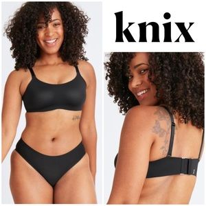 KNIX Reversible Evolution Bra in Black and Nude